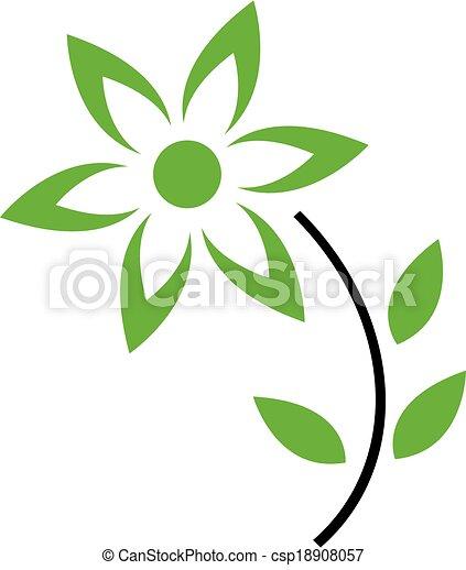 Petalas Folhas Flor Verde Conceito Folhas Petals Flor