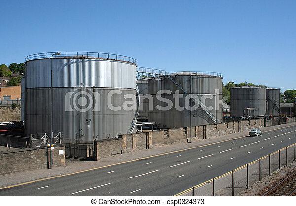 pétrole, tanks réservoirs - csp0324373