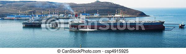 pétrolier, chargement, huile - csp4915925
