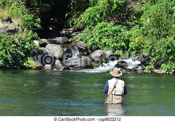 pêche mouche - csp8622212