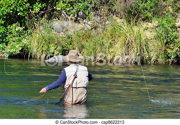 pêche mouche - csp8622213