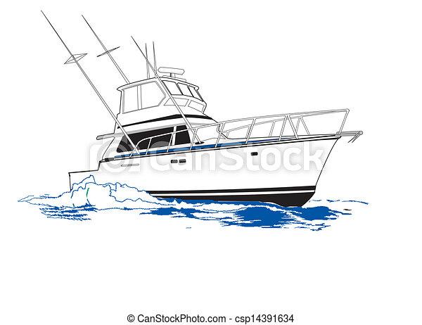 pêche sport, bateau - csp14391634