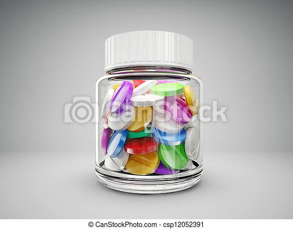 Pills en botella - csp12052391