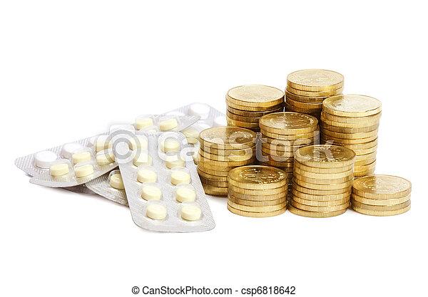 Paquetes de pastillas, medicina abstracta - csp6818642