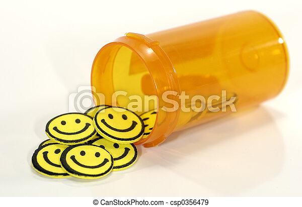pílulas, feliz - csp0356479