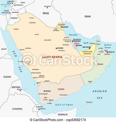 Polwysep Mapa Arabski