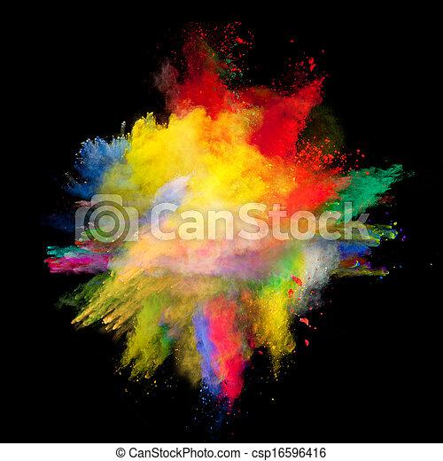 pó, colorido - csp16596416