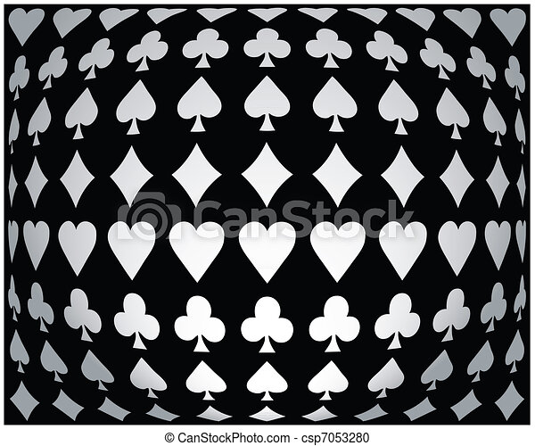Póker blanco y negro - csp7053280