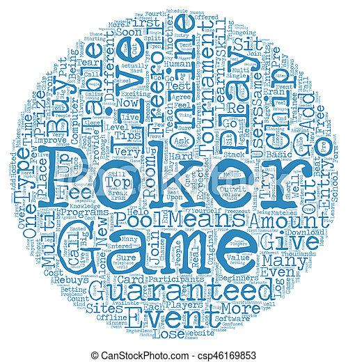 Concepto de palabra en vivo en línea de poker - csp46169853