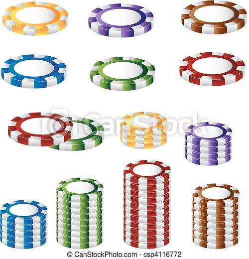 Chip de póquer listo - csp4116772