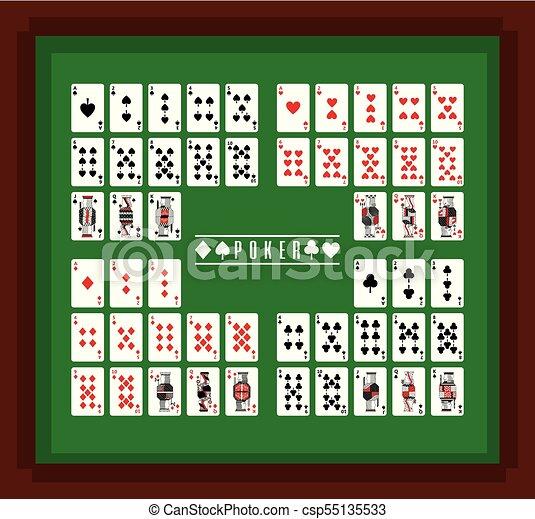 Jugar al póker en el juego de mesa - csp55135533