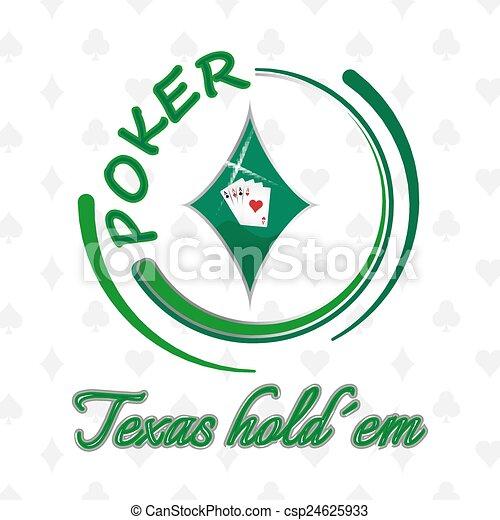Texas Holdem antecedentes de póker - csp24625933