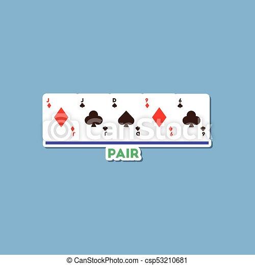 Pegatina de papel en elegantes partidas de póker de fondo - csp53210681