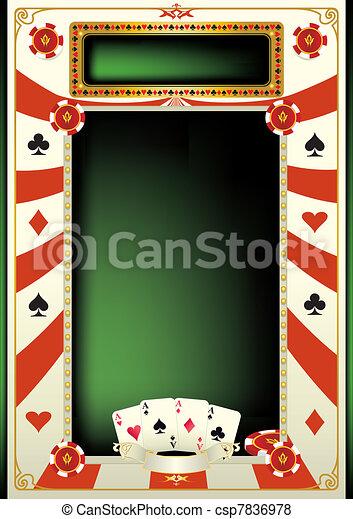 Trasfondo de póker - csp7836978
