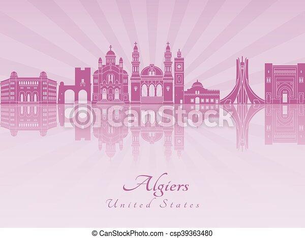 Argelia de Argel en orquídea púrpura radiante - csp39363480