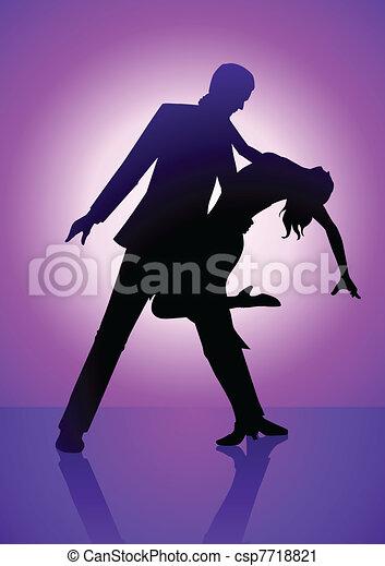 Bailando púrpura - csp7718821
