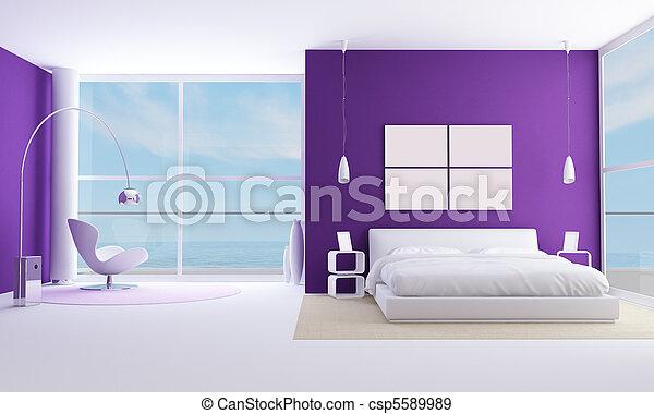 Habitación púrpura - csp5589989