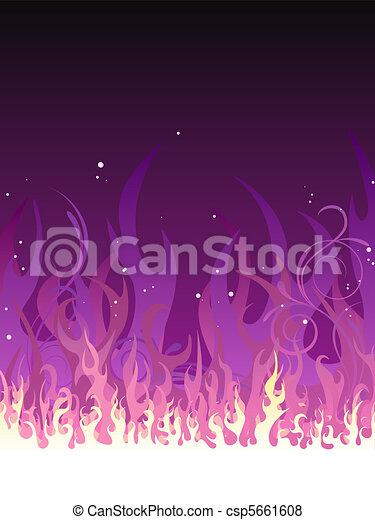 Fuego púrpura - csp5661608