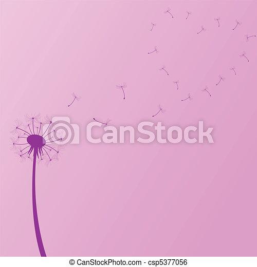 Ilustración de diente de león púrpura - csp5377056