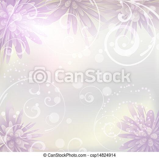 Pastel de colores con flores púrpura - csp14824914