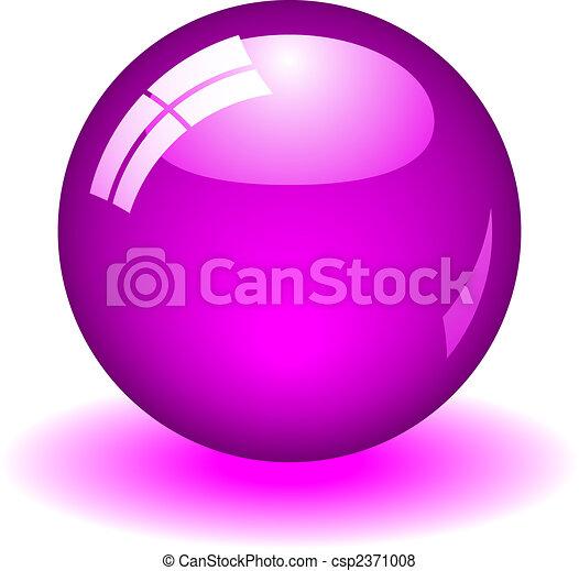 púrpura, pelota - csp2371008