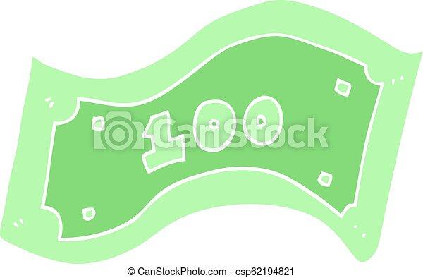 płaski, kolor, halabarda, dolar, ilustracja, 100, rysunek - csp62194821