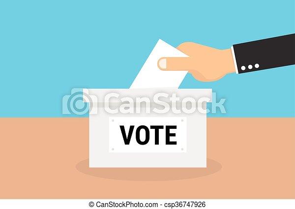 płaski, pojęcie, eps10, wektor, głosowanie, styl - csp36747926