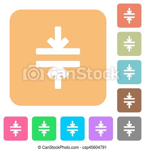 płaski, skwer, zaokrąglony, ikony, instrument, wcielać, poziomy - csp45604791