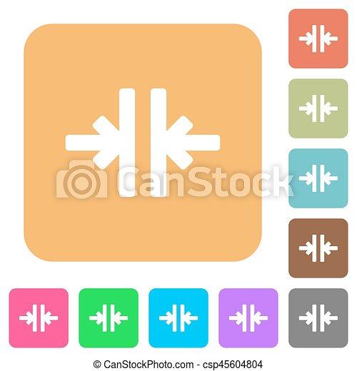 płaski, skwer, zaokrąglony, pionowy, ikony, instrument, wcielać - csp45604804