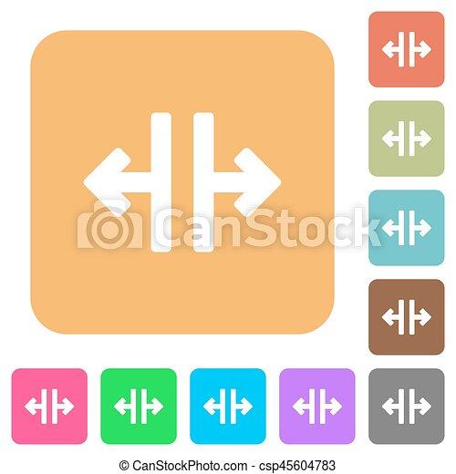 płaski, skwer, zaokrąglony, pionowy, ikony, instrument, ułamkowy - csp45604783