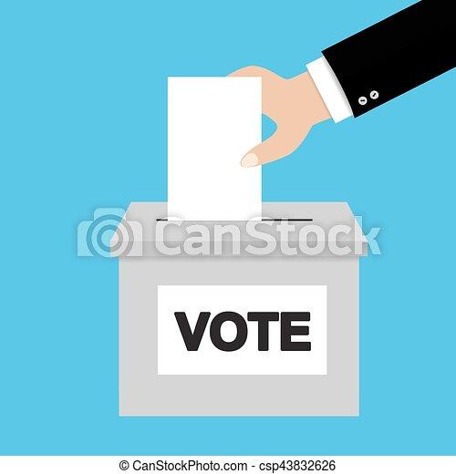 płaski, styl, pojęcie, głosowanie - csp43832626