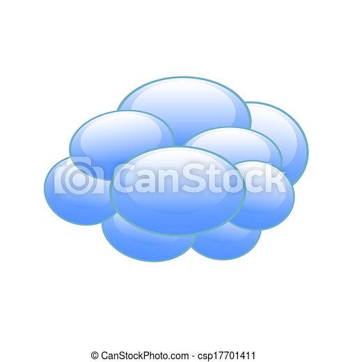 předpověď počasí, ikona - csp17701411