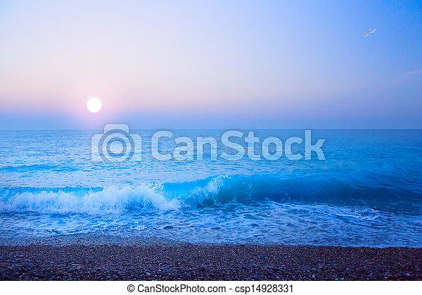 překrásný, léto, umění, moře, lehký, abstraktní, grafické pozadí - csp14928331