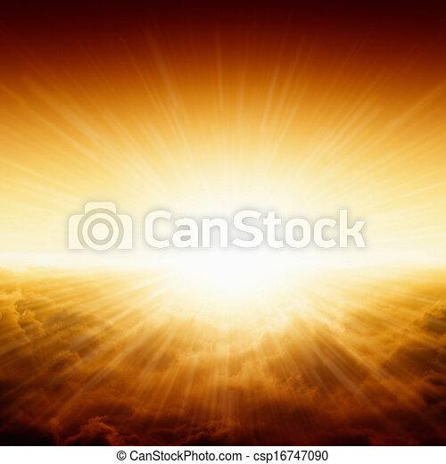 překrásný, východ slunce - csp16747090