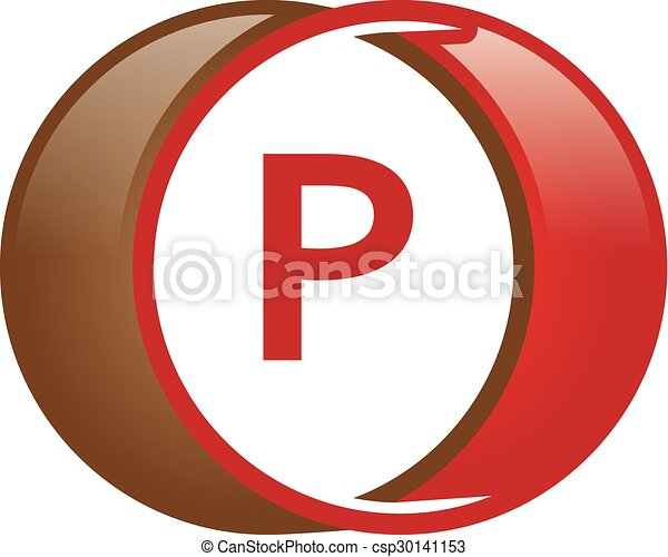 P Letter Circle Logo Logo Template