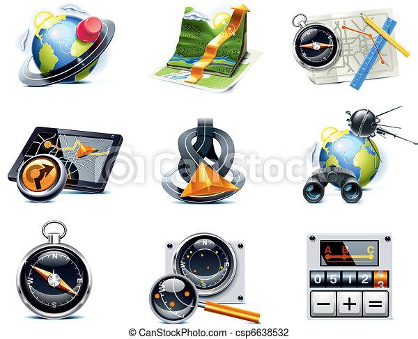 p.1, vettore, navigazione, icons., gps - csp6638532