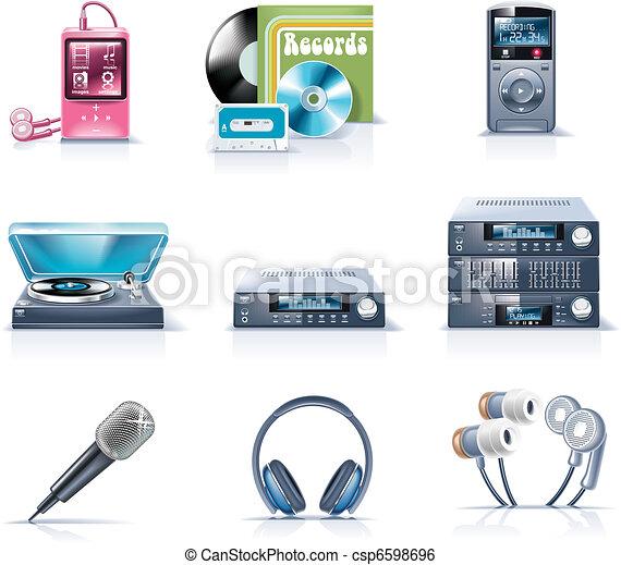 p.9, appliances., ménage, vecteur - csp6598696