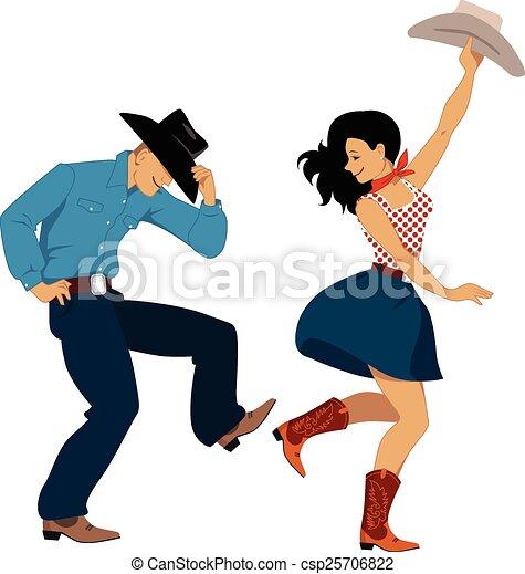 Bailarines del oeste - csp25706822