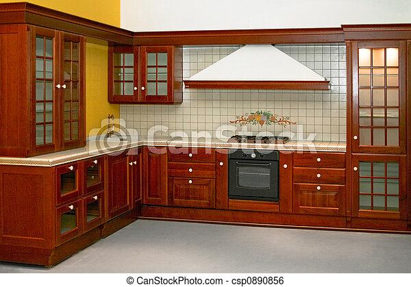 país, cozinha - csp0890856