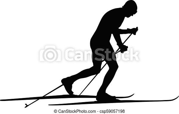 A esquiar en el campo - csp59057198