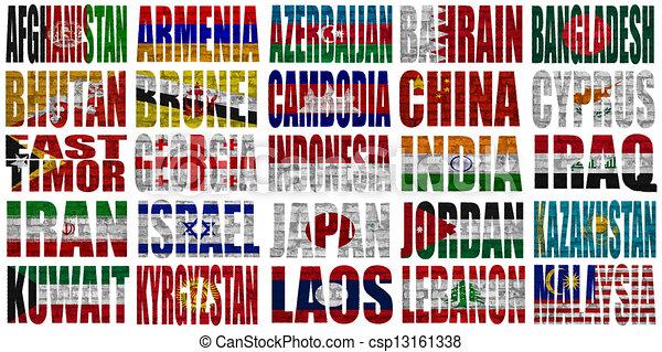 países ásia 1 bandeira parte palavras palavras países m