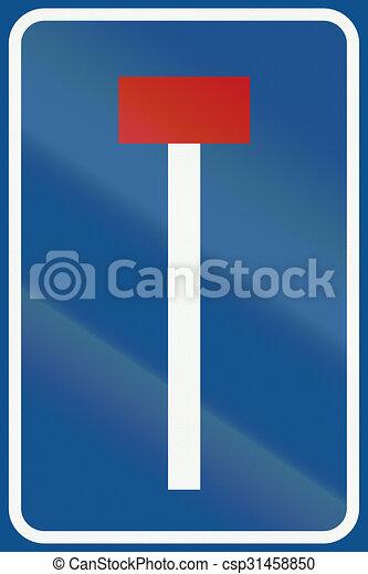 Netherlands señal de carretera L8 - no hay camino para vehículos - csp31458850