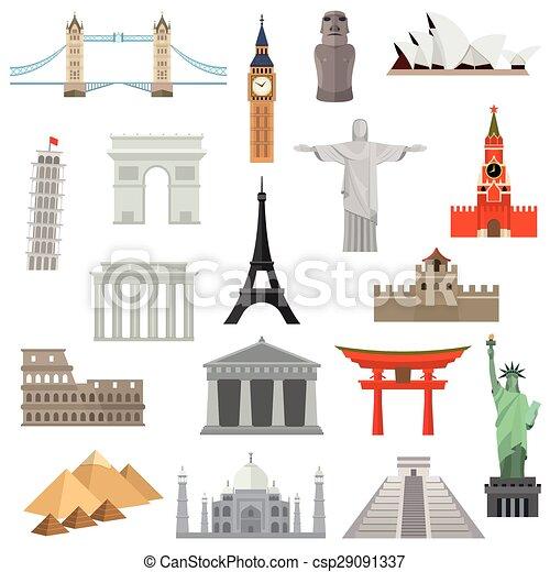 países logotipo arquitetura template vetorial desenho