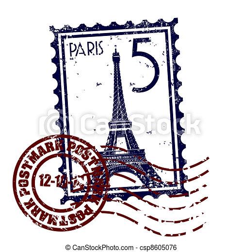 paříž, osamocený, ilustrace, svobodný, vektor, ikona - csp8605076