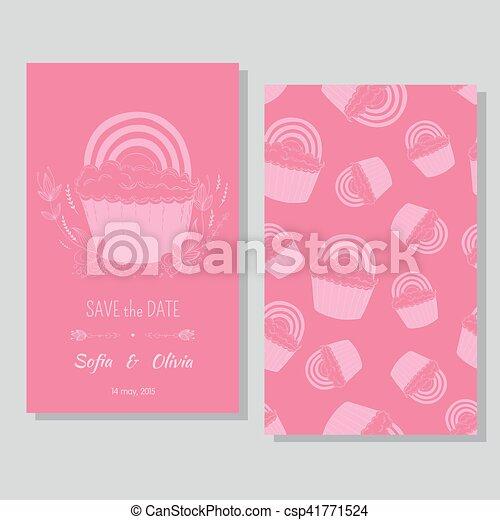paar, -, datum, sparen, lesbische , kaart - csp41771524