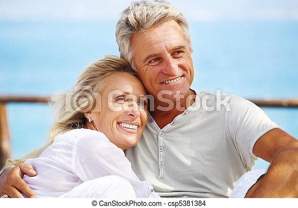 paar, fällig, glücklich - csp5381384