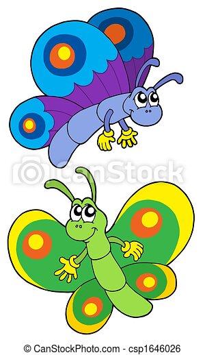 paar, het glimlachen, vlinder - csp1646026