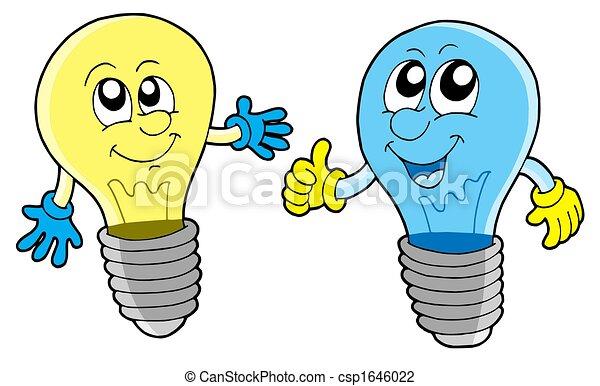 paar, schattig, lightbulbs - csp1646022
