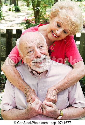 paar, senior, liefde - csp19741677