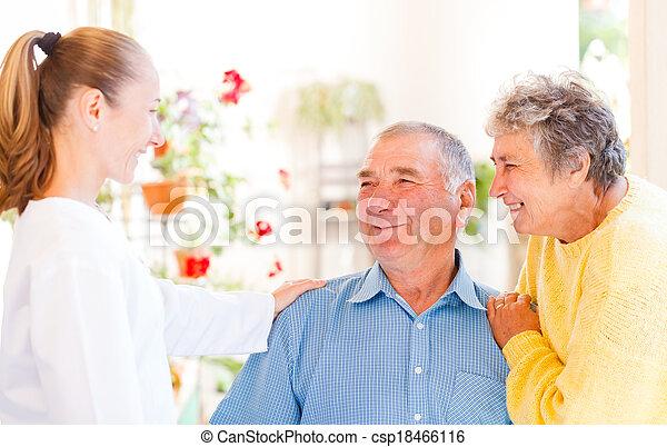 paar, senioren - csp18466116